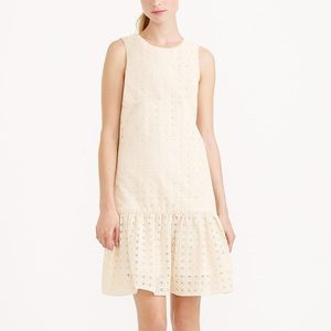 NWT J. CREW Anna In Organza Eyelet Cocktail Dress
